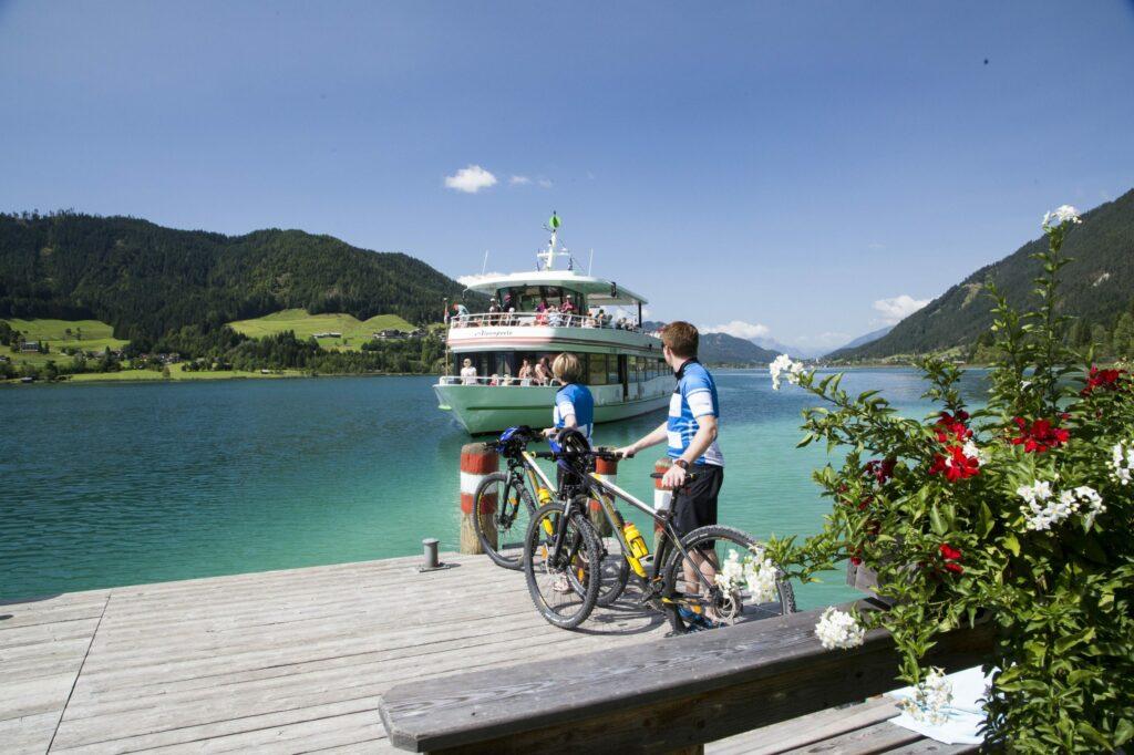 A karintiai Lake Loop kerékpártúra kezdete