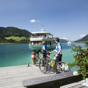 Start of the Carinthia Lake Loop bike tour