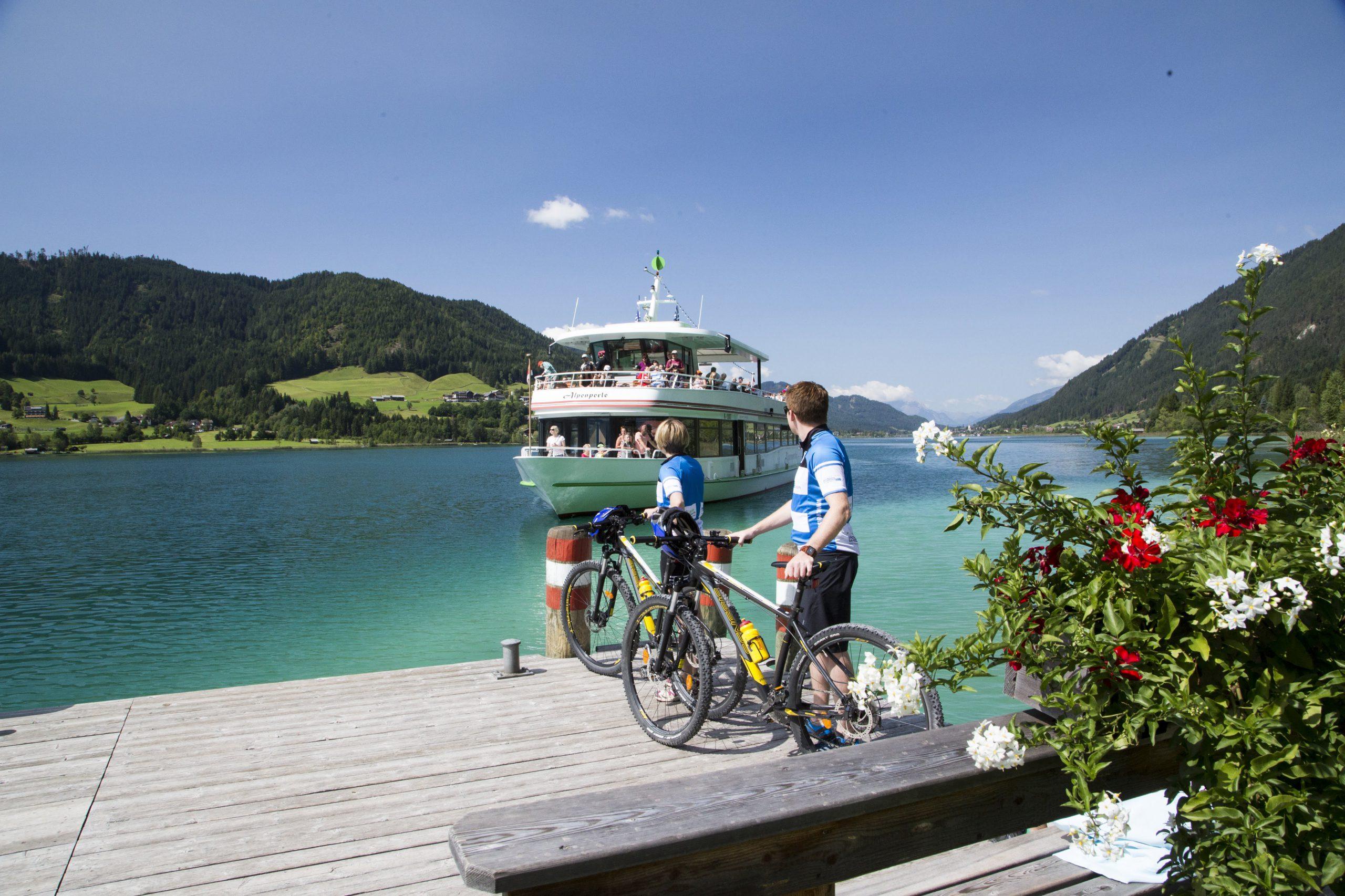 Début du tour à vélo de la boucle du lac de Carinthie