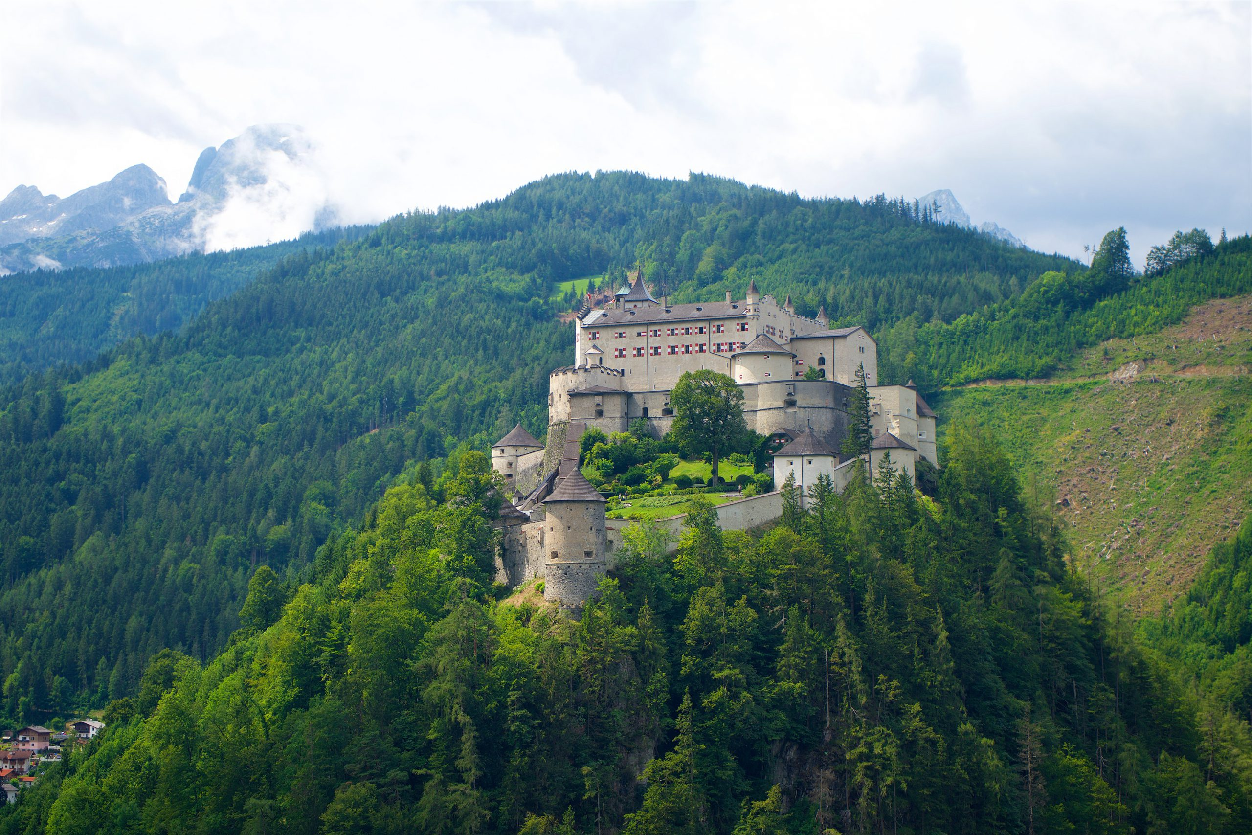 Explore Salzburg on the bike tour and visit Hohenwerfen Fortress