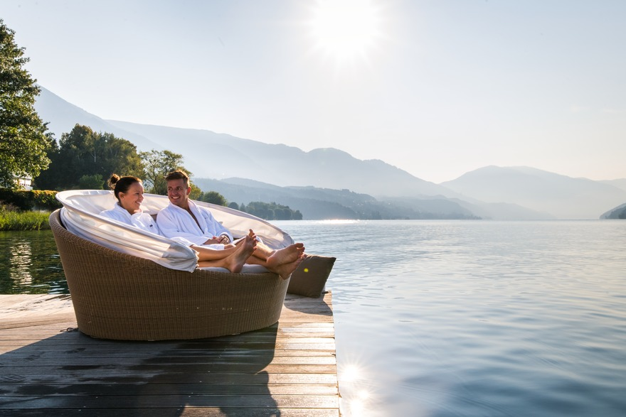 After the bike tour, Lake Millstatt invites you to wellness - pure relaxation