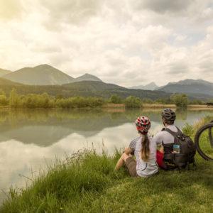 die Naturschönheiten von Kärntens größtem Fluss am Drauradweg entdecken