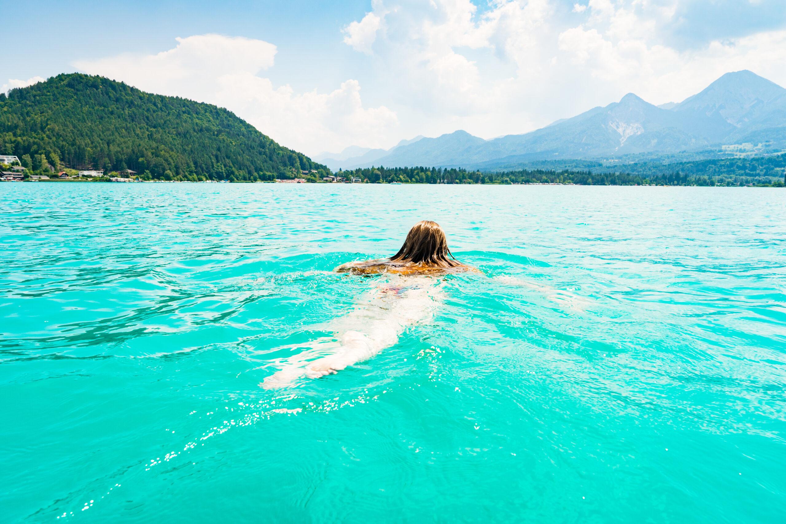 Schwimmen im Faaker See