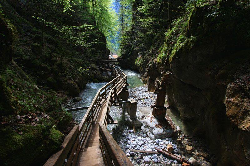das Naturdenkmal Seisenbergklamm – dient als Tor zum Naturpark Weißbach