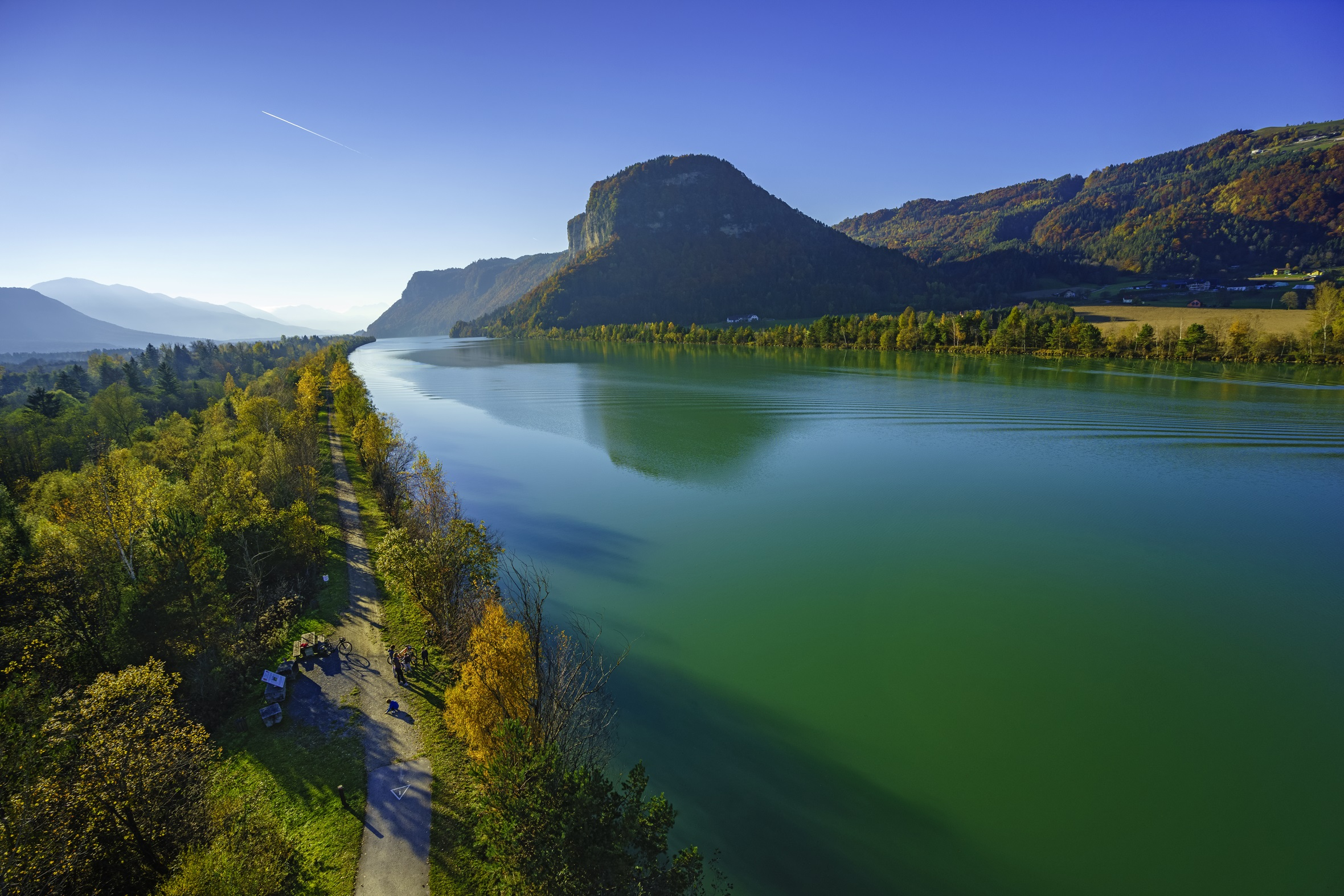 The 5 star Drau cycle path is one of the most beautiful cycle routes in Austria