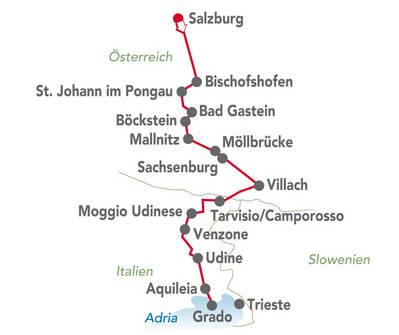 Alpe-Adria Radweg Salzurg bis Grado