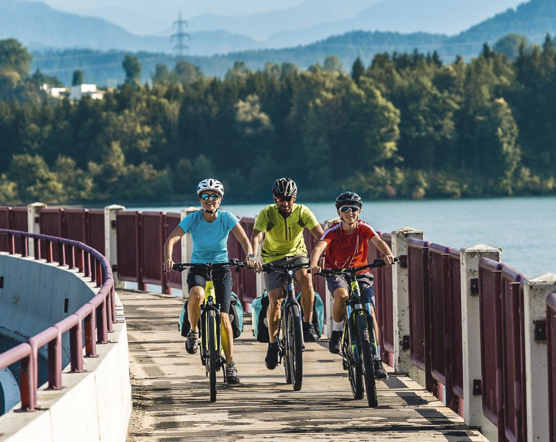comfortable cycling holiday for the whole family