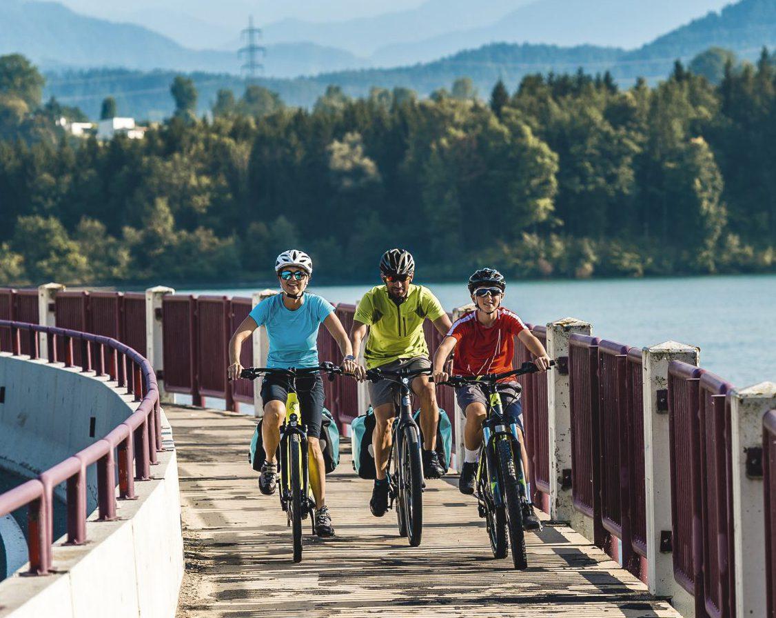 vacances à vélo confortables pour toute la famille