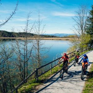 Radfahren am Gösseldorfer See